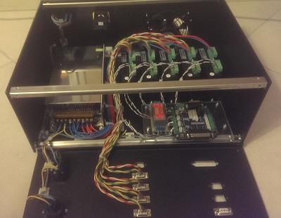 Câblage du boitier de commande de la CNC