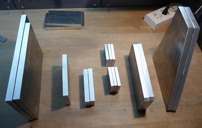 Découpe des divers plaques alu de la CNC