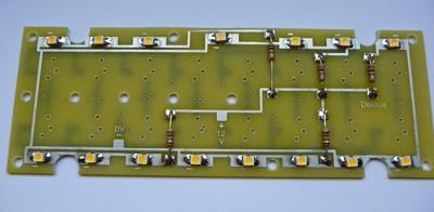 Le pcb du panel, avec ses led cms