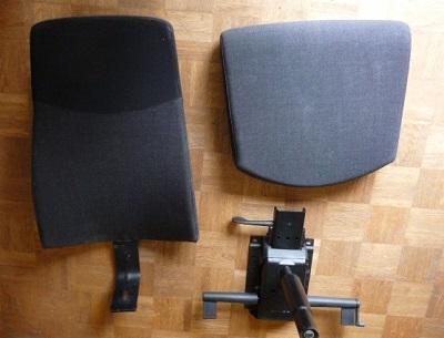 Les composants du fauteuil d'origine