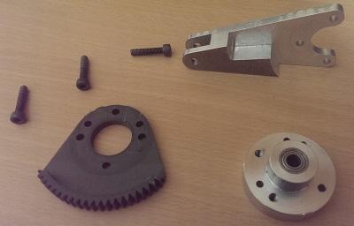 Les composants du levier de frein de la base du throttle