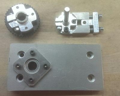 Composants de la transmission de la base du tour
