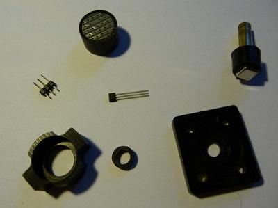 Les composants du potentiomètre à effet hall